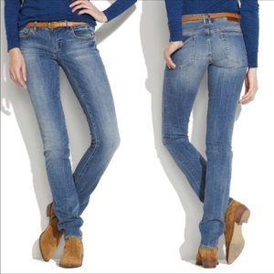 Madewell Rail Straight Light Wash Blue Jeans Sz 29